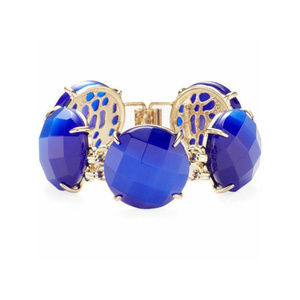 Kendra Scott Cobalt Cat's Eye Cassie gold bracelet